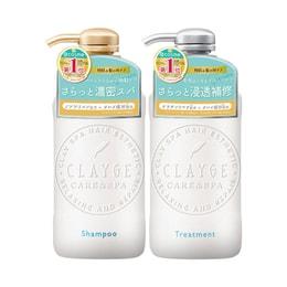 日本CLAYGE S 清爽滋润 洗发水500ml+护发素500ml