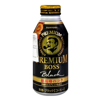 SUNTORY BOSS Premium Black Coffee 390ml