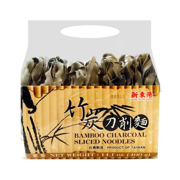 Product Detail - HSINTUNGYANG Bamboo Charcoal Sliced Noodles 400g - image 0