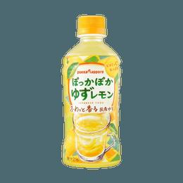 【每日VC补充】日本POKKA SAPPORO 果汁2%添加 柚子果汁饮料 345ml