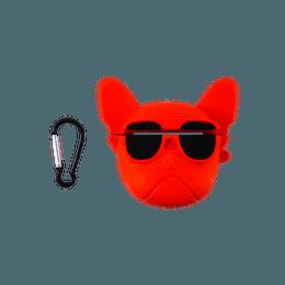 苹果AirPods 硅胶保护套 耳机保护套 可爱个性ins风 适用于AirPods Pro 无线充电版 斗牛犬音响红