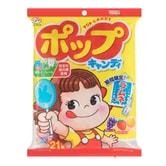 日本FUJIYA不二家 绿茶多酚护齿果汁棒棒糖 21枚入 121.8g