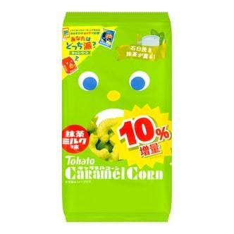 日本TOHATO桃哈多 玉米米果条 抹茶牛奶味 77g