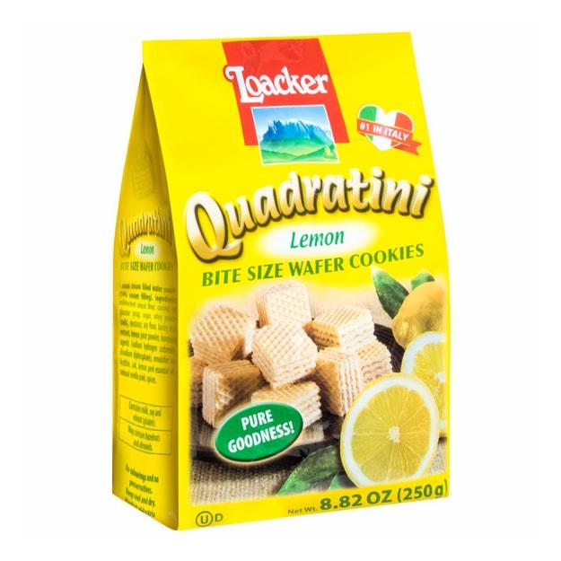 商品详情 - 意大利LOACKER莱家 QUADRATINI 华夫小威化 天然柠檬味 250g - image  0
