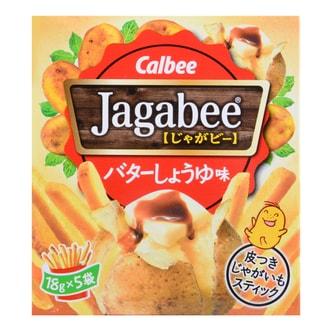 日本CALBEE卡乐B JAGABEE宅卡B 薯条 盒装 黄油味 90g