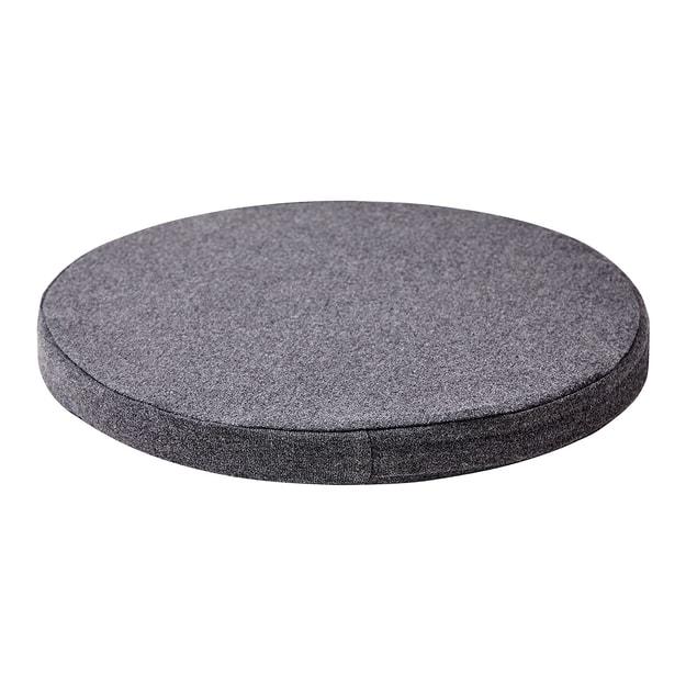 商品详情 - 苏宁极物 日式纯色记忆棉圆形坐垫 灰色 - image  0