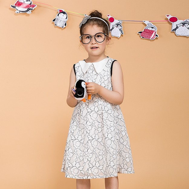 Product Detail - BIRRYSHOP  Children\'s lace dress Black and white 98 - image 0