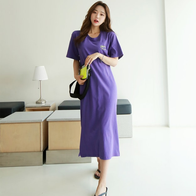 Product Detail - SUMPARTY Open Back Sweatshirt Dress #Violet One Size(Free) - image 0