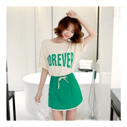 [KOREA] MAGZERO FOREVER Oversized T-Shirt+Sport Skort 2 Pieces #Mint One Size(S-M) [Free Shipping]