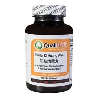 Quali Herb Anemarrhena Phellodendron & Remannia Formula Supplement 200 Pills 600mg