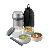 ZOJIRUSHI Mr. Bento® Stainless Lunch Jar SL-JAE14-SA Silver