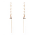 JDREY 14K Handmade Triangle Drop Earrings 1 Pair