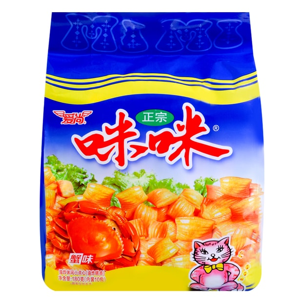 Product Detail - AISHANG Mimi Crab Flavored Chips 10 Packs 180g - image 0
