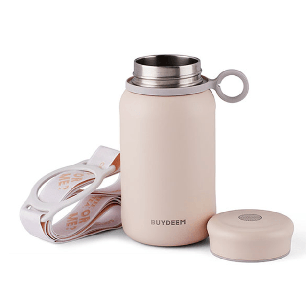 Product Detail - Vacuum Insulated Stainless Steel Water Bottle, Travel Mug, 300ml, Light Pink - image  0