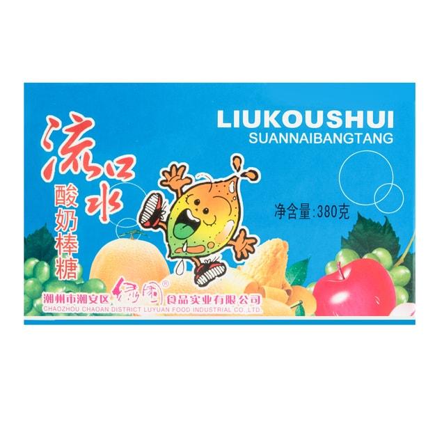 商品详情 - 绿园 流口水酸奶棒糖 380g - image  0