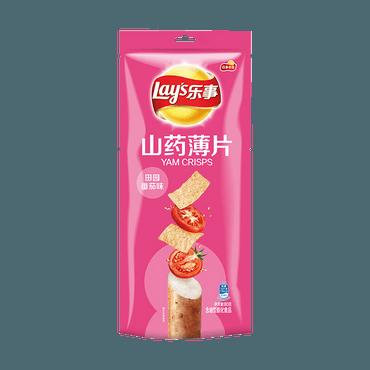 百事LAY'S乐事 山药薄片 田园番茄味 80g