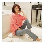 MAGZERO [2018新款] 纯色针织衫 #粉色 均码(Free)