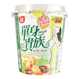 白家陈记 单身贵族 100%纯红薯方便粉丝 酸汤老鸭味 70g