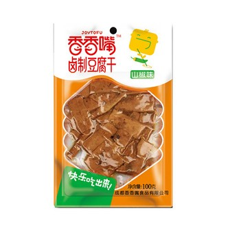 JOYTOFU Dried Bean Curd Chili Flavor 100g