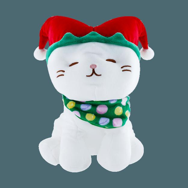 商品详情 - 名创优品MINISO 圣诞系列 坐姿可爱小猫公仔(小丑帽) - image  0