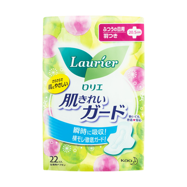 KAO LAURIER Speed+ Soft Mesh Sanitary Napkin With Wing Old & New Package 20.5cm 22pads