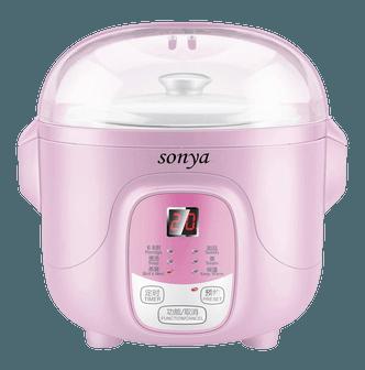 SONYA Ceramic Mini Slow Cooker Digital Electric Stew Pot 0.7L Pink SY-DGD8P