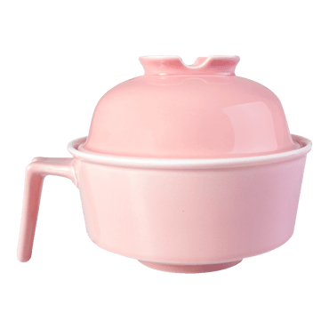 HEY BUNNY Easy Cleaning Ceramics Noodle Bowl  #Pink Microwave Safe