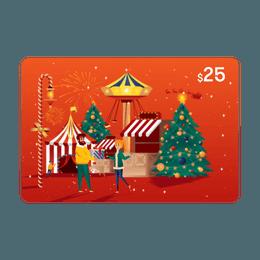 亚米电子礼卡 价值$25