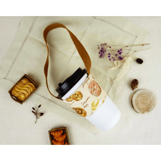 Product Detail - MONKEY DESIGN Double Layer Beverage Bag #Bread - image 0