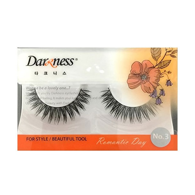 Product Detail - DARKNESS False Eyelashes #NO3 1Pair In 1Box - image 0