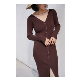 NICHE MARKET ONE-PIECE DRESS BROWN ONE SIZE