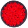 HYACINTH创意开窗永生花圆形花盒 红色香皂花表白礼物 送女友
