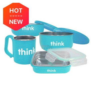 THINKBABY The Complete BPA Free Feeding 4pcs Set #LightBlue