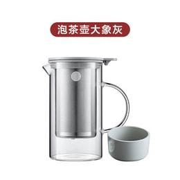 BUYDEEM tea brewing glass cup 800ml grey