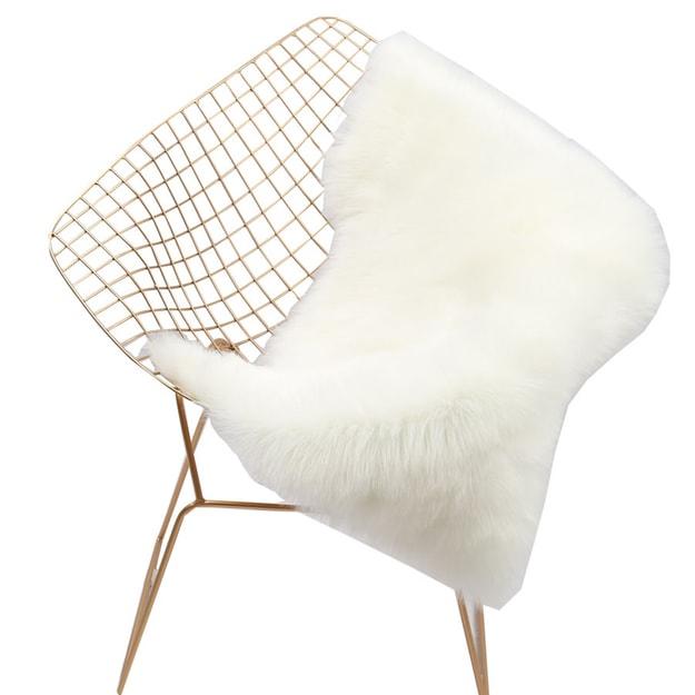 """商品详情 - Premium Down白色简约温馨地毯. 客厅卧室地毯电脑椅垫毯(W)24""""x(L)40"""" Set of 2 - image  0"""