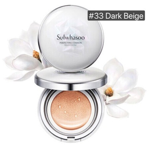 Product Detail - SULWHASOO Perfecting Cushion Brightening No.33 Dark beige SPF50+ PA+++ 15g + Refill 15g*2 - image 0