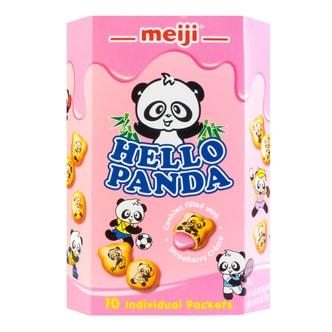 日本MEIJI明治 熊猫夹心饼干 草莓味 258g