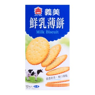 台湾IMEI义美 浓香鲜乳薄饼 12包入 240g