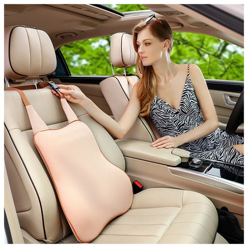 LORDUPHOLD Car Seat Cushion Memory Foam Massage Lumbar Support Pillow Accessories Red 1