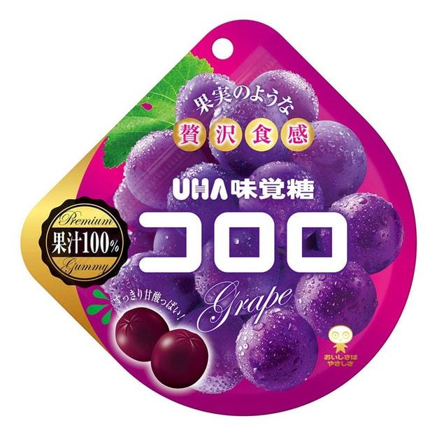 商品详情 - 【日本直邮】日本UHA悠哈味觉糖 全天然果汁软糖 紫葡萄味 48g - image  0