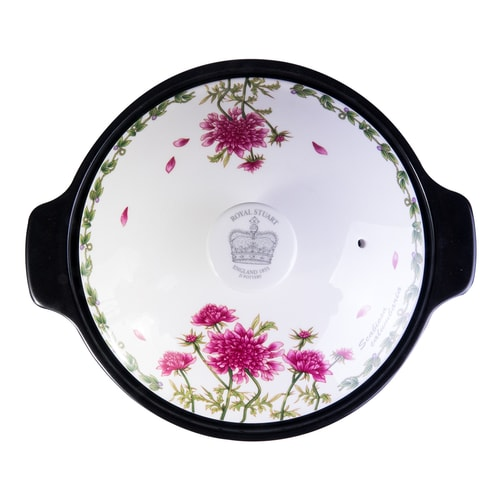 ENGLAND ROYAL STUART Elegant Ceramic Pot Hot Pink; Microwave & Oven Safe  24cm