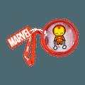 名创优品Miniso 漫威系列 漫威透明圆形零钱包, 钢铁侠