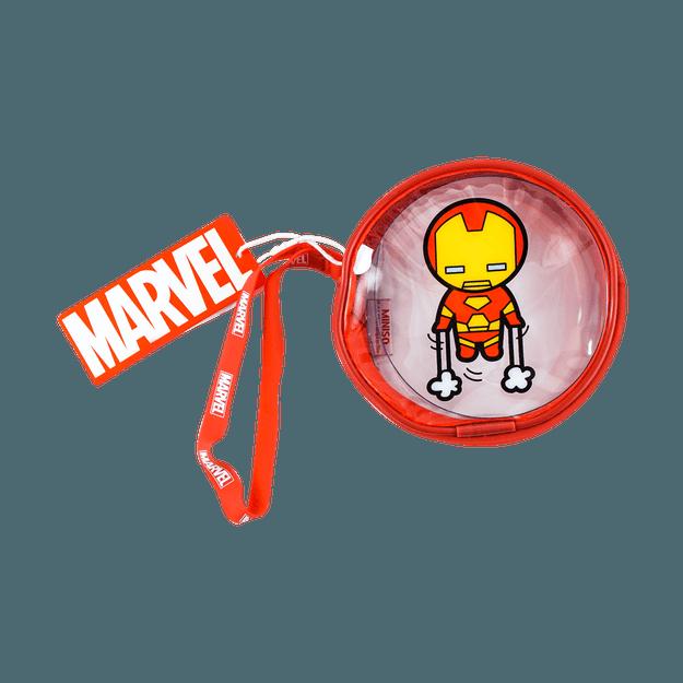 商品详情 - 名创优品Miniso 漫威系列 漫威透明圆形零钱包, 钢铁侠 - image  0