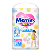 MERRIES Unisex Baby Pant Diaper L Size 9-14kg 44pc