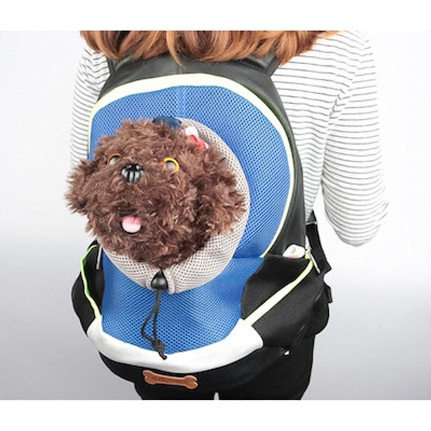 商品详情 - ALPHA DOG SERIES 宠物便携背包 #蓝色 - image  0