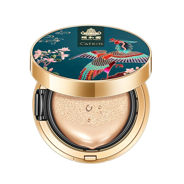 CATKIN Summer Palace makeup series Chinese style courtly style air sense thin powder bottom cushion BB light mist face makeup sense C01 natural color