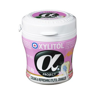 韩国LOTTE乐天 XYLITOL Alpha木糖醇口香糖 芦荟味 瓶装 86g