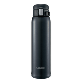 ZOJIRUSHI One Touch Stainless Steel Vacuum Thermal Bottle Silky Black 600ml SM-SD60BC