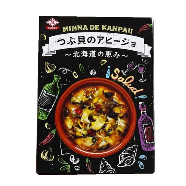 商品详情 - 【日本直邮】DHL直邮3-5天到 日本北海道限定 高级即食罐头 橄榄油蒜香海螺肉 80g - image  0