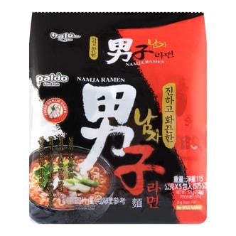 韩国PALDO八道 蒜味男子面 5包入 575g